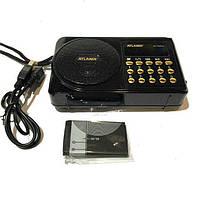 Радиоприемник ATLANFA AT-R22U с USB, SD, FM, дисплеем, фонариком и 1-динамиком