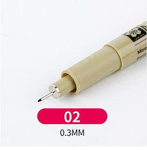 Лайнер Micron Pigma 0,2мм, цвет чёрный.