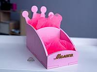 Коробочка для заколок, органайзер именной для резинок, подарок девочке