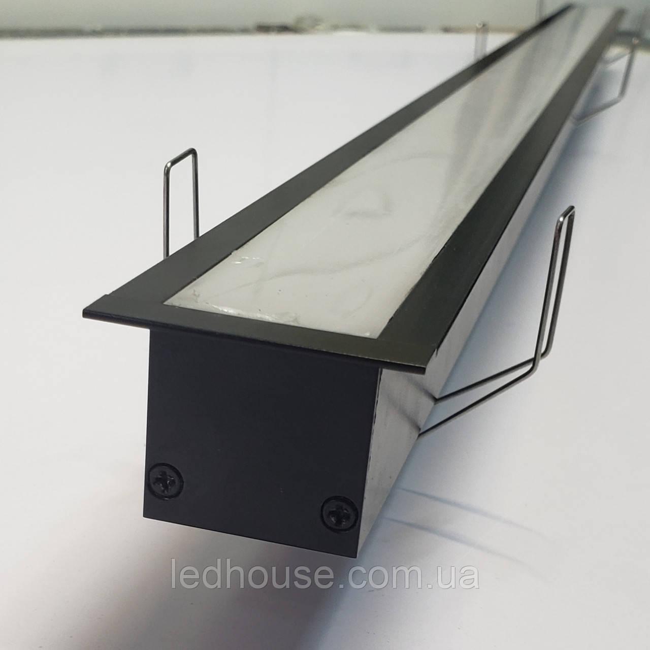 Чорний врізний LED світильник 1400lm 100 див. 24 W. З криплением