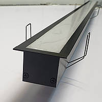 Чорний врізний LED світильник 1400lm 100 див. 24 W. З криплением, фото 1