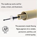 Лайнер Micron Pigma 0,3 мм, колір чорний., фото 7