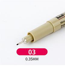 Лайнер Micron Pigma 0,3мм, цвет чёрный.