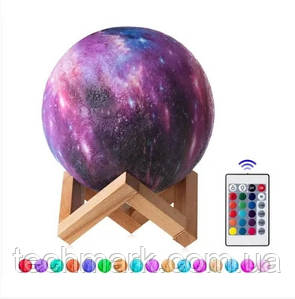 Настольный светильник Луна 3D Moon Lamp Touch Control 13 см с пультом 16 режимов / детский ночник