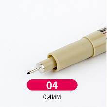 Лайнер Micron Pigma 0,4мм, цвет чёрный.
