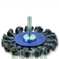 75х12х18х6,0 Дисковая жгутовая щётка с цилиндрическим хвостовиком NovoTools [INKRZ00000DBK0750D]