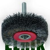 40х16х10х6,0 Дисковая щётка с гофрированной проволоки и с цилиндрическим хвостовиком NovoTools [INKRZ00000DBC0401D]