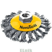 125мм М14х2 Дисковая щётка, плетёная проволока, с гайкой NovoTools [INKRZ00000DBK1253N]