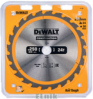 250X30,24 WZ 10 Пильный диск DeWalt [ST0TCTCPDDT1956000]