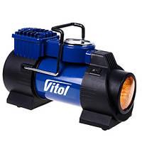 Компрессор автомобильный Vitol K-60 с фонарем 150psi/15Amp/40л/прикуриватель, фото 1