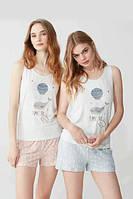 Пижама женская шорты+майка, S, M, L, XL, Feyza