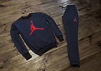 Трикотажный спортивный костюм в стиле Jordan | логотип красный, фото 1