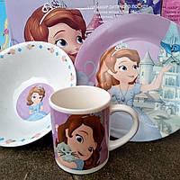 Набор детской посуды 3 предмета Принцеса София   С 515                6911100000
