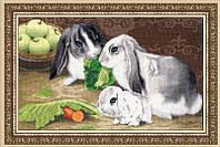 """Набор для вышивания крестом """"Кролики"""""""