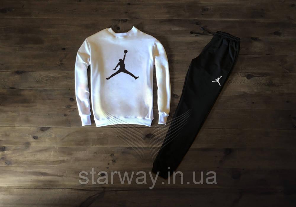 Спортивный трикотажный костюм в стиле Jordan | джордан лого