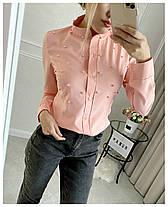 Блуза  бусинки в расцветках 19507, фото 3