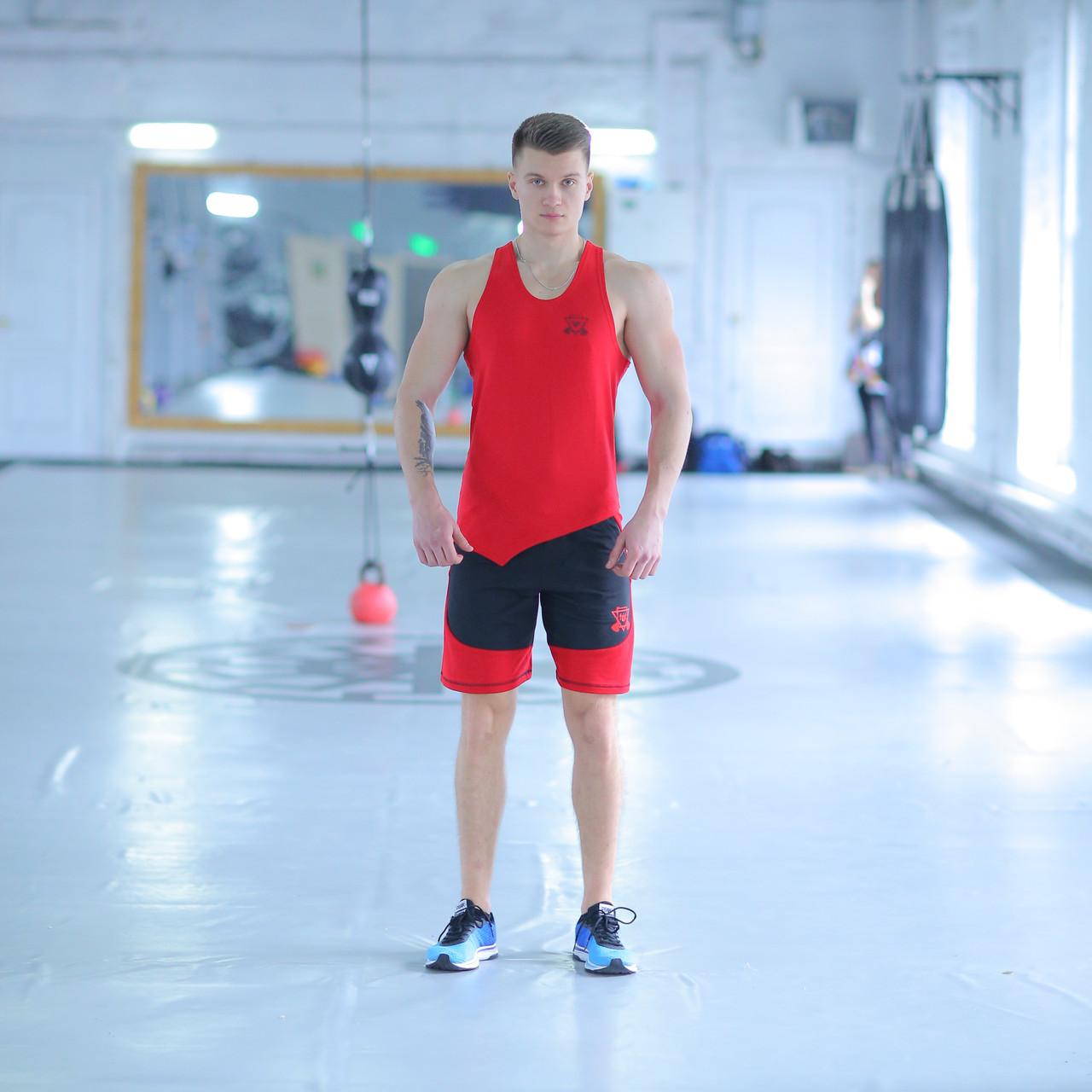 Мужской спортивный комплект fitU Progress red 1.1 FitU