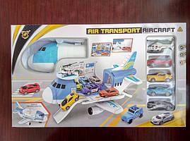 Транспортный самолет с машинками и вертолетом