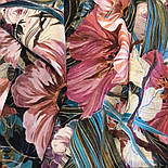 Павлопосадский платок 10388-2 шелковый (крепдешиновый) с подрубкой, фото 5
