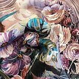Павлопосадский платок 10388-2 шелковый (крепдешиновый) с подрубкой, фото 2