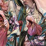 Павлопосадский платок 10388-2 шелковый (крепдешиновый) с подрубкой, фото 6
