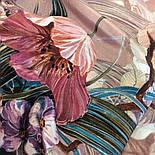 Павлопосадский платок 10388-2 шелковый (крепдешиновый) с подрубкой, фото 4