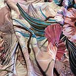 Павлопосадский платок 10388-2 шелковый (крепдешиновый) с подрубкой, фото 7
