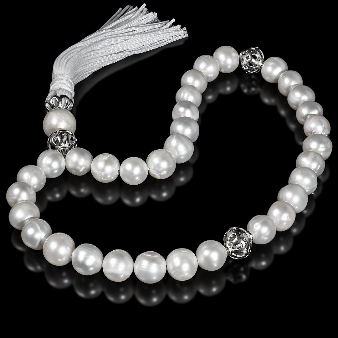 Чотки з білого перлів і срібла, 229ЧТЖ