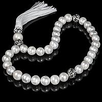 Чотки з білого перлів і срібла, 229ЧТЖ, фото 1