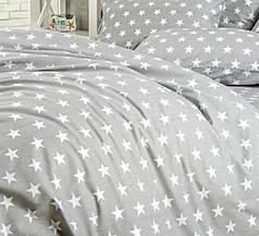 Простынь поплин DeLux Звездный серый ТМ Moonlight 220х240
