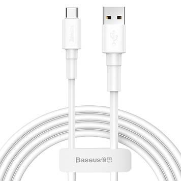 Кабель Baseus Mini White 3A USB Type C 1m White (CATSW-02)
