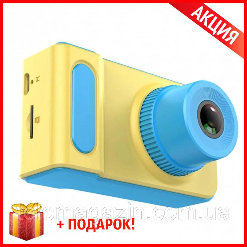 Детский Фотоаппарат с записью видео +цветной экран Dvr Baby Camera V7 ГОЛУБОЙ +ПОДАРОК!