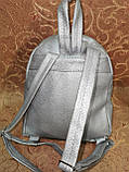(Новый с паетками)Женский рюкзак искусств кожа качество городской спортивный стильный опт, фото 4