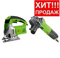 Комплект набор инструмента МТЗ Белорус: Лобзик ПЛЭ-1280 + Болгарка МШУ-125-1210