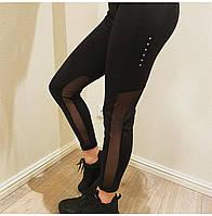 Женские лосины Nike чёрный. Жіночі лосини Nike чорний.