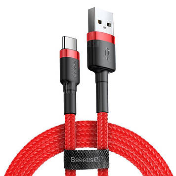 Кабель Baseus Cafule USB Cable for Type-C 3A 2M Red (CATKLF-C09)
