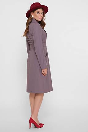 Модный удлиненный женский плащ размеры 44, 46, 48, фото 2