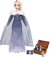 Кукла Дисней Эльза с чемоданчиком серия Замороженные традиции  Disney Frozen Elsa's Treasured Traditions