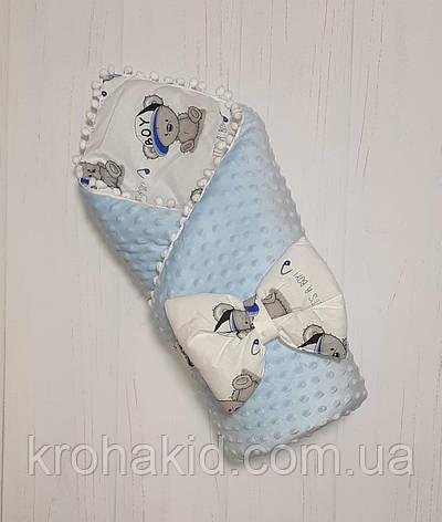 """Детский демисезонный конверт на выписку """"Минки"""", конверт-одеяло, нарядный конверт на выписку (ВЕСНА/ ОСЕНЬ), фото 2"""