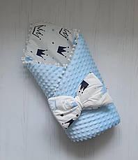 """Детский демисезонный конверт на выписку """"Минки"""", конверт-одеяло, нарядный конверт на выписку (ВЕСНА/ ОСЕНЬ), фото 3"""