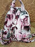 (Топ продаж-3 отдела)Женский рюкзак искусств кожа качество городской спортивный стильный опт, фото 4
