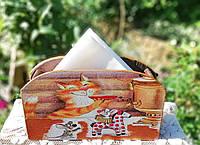 Салфетница на стол, коты на обеде, подарок для настроения Ручная работа