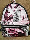 РАСПРОДАЖА Рюкзак женская Искусств кожа Принт красивый маленький городской стильный только оптом, фото 2