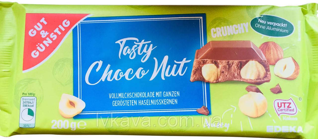 Молочный шоколад Tasty Choco Nut  Edel Nuss , 200 гр