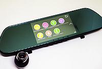 """DVR V9TP Full HD 5"""" сенсорный экран. 3 камеры. Зеркало заднего вида с видео регистратором"""