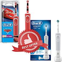 Набір електрична зубна щітка дитячаBraun Oral-B Cars/Тачки + Vitality 100