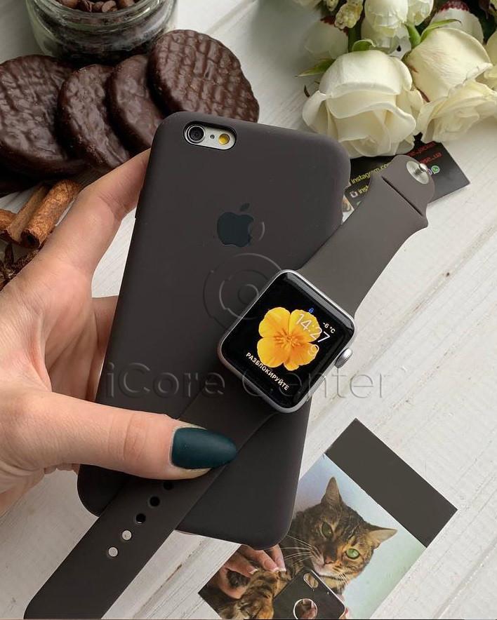 Силіконовий ремінець для apple watch 38 / 40 мм Sport Band COCOA (Какао)