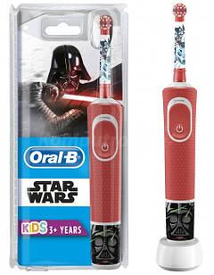 Набір електрична зубна щітка дитячаBraun Oral-B  Starwars + Vitality 100 White