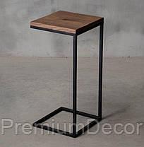 Кофейный столик из массива дерева дуба лофт, фото 3