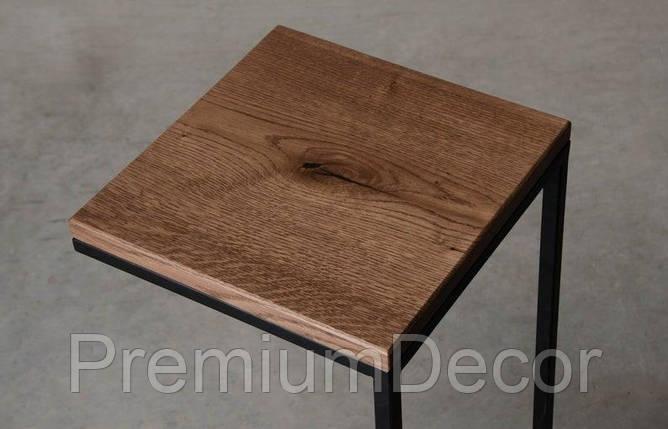 Кофейный столик из массива дерева дуба лофт, фото 2